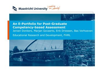 An E-Portfolio for Post-Graduate Competency-based Assessment