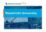 Maastricht University - School of Business and Economics ...