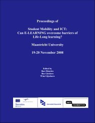 proceedings of Student Mobility and ICT: Can E-LEARNING