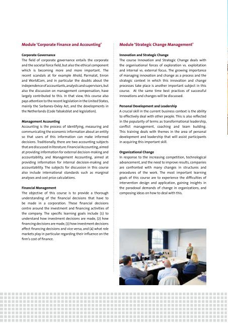 international modular executive mba - School of Business and ...