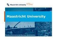 Infonomics - School of Business and Economics - Maastricht University
