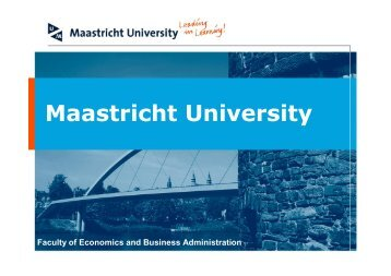 Infonomics - School of Business and Economics - Maastricht University