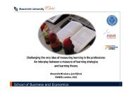 Learning in Professions - School of Business and Economics
