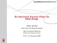 An Interactive Exercise Player for Math-Bridge