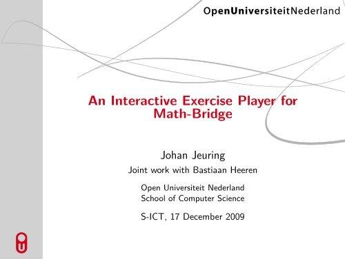 An Interactive Exercise Player for Math-Bridge