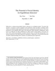 The Potential of Social Identity for Equilibrium Selection - School of ...