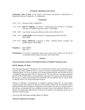 Link to Programme - School of Business and Economics - Maastricht ...