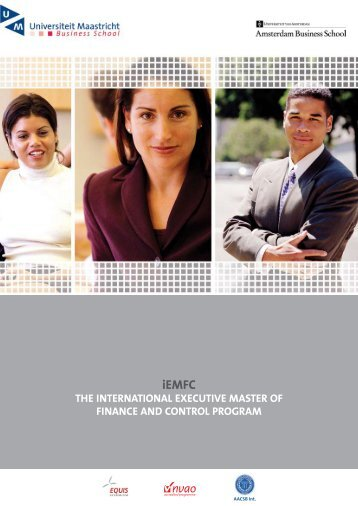 the international executive master of finance and control program