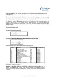 Standardlastprofile Gas im Netz der Stadtwerke Frankfurt (Oder ...