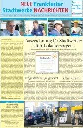 NEUE Stadtwerke Frankfurter NACHRICHTEN - Fdh-ffo.de