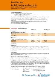 Preisblatt zum Gasliefervertrag local gas activ - Fdh-ffo.de