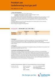 Preisblatt zum Gasliefervertrag local gas profi - Fdh-ffo.de