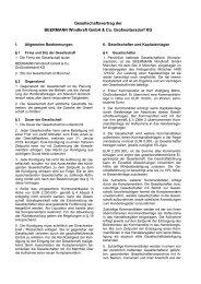 Gesellschaftsvertrag der BEERMANN Windkraft GmbH & Co ...