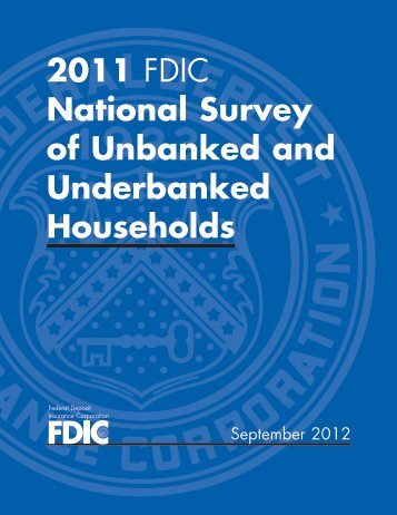 National Survey of Unbanked and Underbanked Households - FDIC