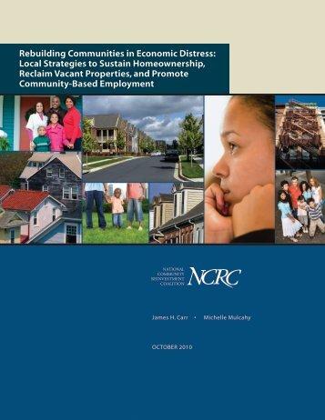Rebuilding Communities in Economic Distress: Local ... - FDIC