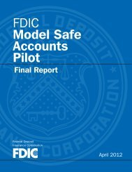 FDIC Model Safe Accounts Pilot: Final Report - PDF