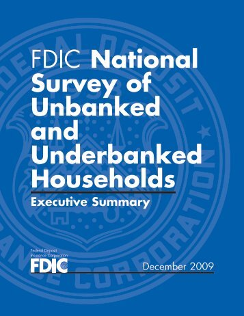 FDIC National Survey of Unbanked and Underbanked Households