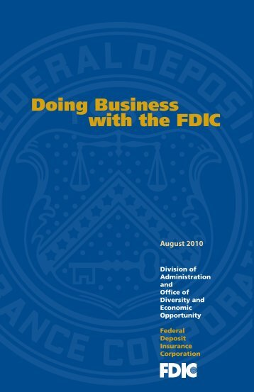 Doing Business with the FDIC