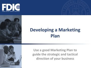 Developing a Marketing Plan - FDIC