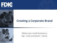3-4 Creating a Corporate Brand - FDIC