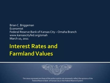 Federal Reserve Bank of Kansas City –Omaha Branch - FDIC