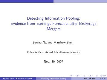 Detecting Information Pooling: Evidence from Earnings ... - FDIC
