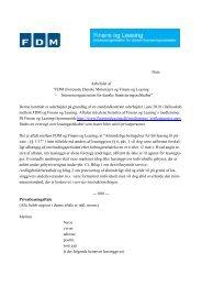 FDM (Forenede Danske Motorejer) og Finans og Leasing ...