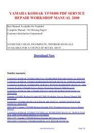 yamaha atv yfm 50 raptor 2004 2008 factory service repair manual download pdf