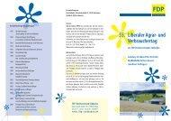 Einladungs-Flyer zum 55. Agrar - FDP Baden-Württemberg