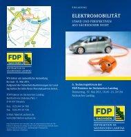 Flyer zum 6. Technologieforum - FDP-Fraktion im Sächsischen Landtag