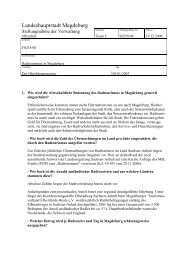 Stellungnahme - Vorlage S0258/06 - FDP Kreisverband Magdeburg