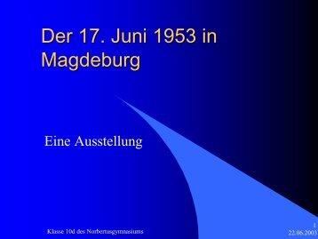 PPP Ausstellung 17. Juni 1953 in Magdeburg1 - FDP Kreisverband ...