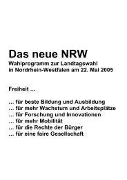 Das neue NRW - FDP Nrw
