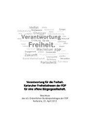 Karlsruher Freiheitsthesen - FDP