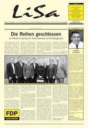 LiSa 1. Ausgabe 2013 - FDP Sachsen
