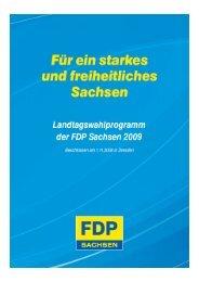 Steuern/Umwelt/Kultur/Medien/Ehrenamt - FDP Sachsen