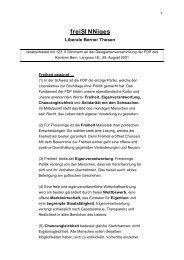 Definitiv freiSINNiges verabschiedet GL 130901 - FDP Worb