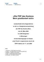 Positionspapier deutsch 11-6-04 definitiv - FDP Worb