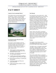 fact sheet - Franklin D. Roosevelt Presidential Library and Museum ...