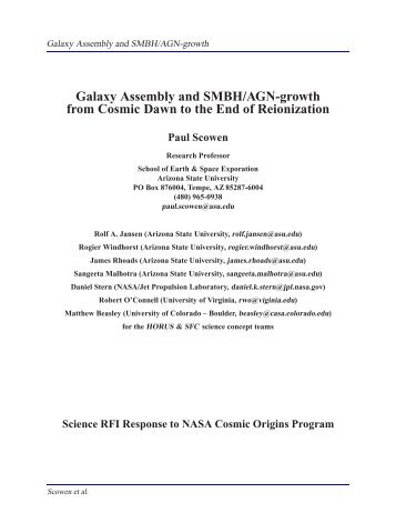 Galaxy Assembly and Smbh/Agn-growth from Cosmic Dawn to the ...