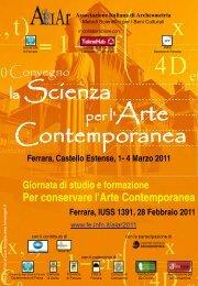 La Scienza per l' Arte Contemporanea - INFN Sezione di Ferrara