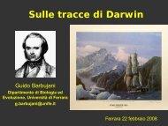 Sulle tracce di Darwin - INFN Sezione di Ferrara