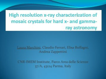 High resolution x-ray characterization of mosaic crystals for hard x ...
