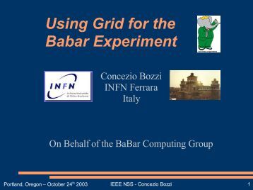 Using Grid for the Babar Experiment