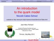 An introduction to the quark model