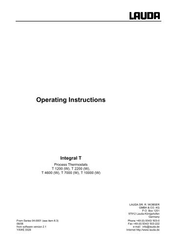 Operating Instructions Integral T