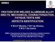 friction stir welded aluminium alloy 6063-t6 - Faculdade de ...