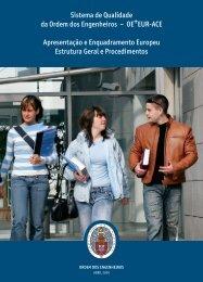 Sistema de Qualidade da Ordem dos Engenheiros – OE+EUR-ACE ...