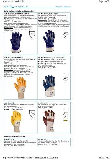 Universalhandschuhe nitrilbeschichtet - Berufsbekleidung Walter