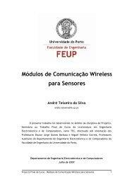 módulos de comunicação wireless para sensores - Faculdade de ...
